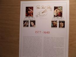 P.P. RUBENS - Bijzondere Reeks Postzegels Op Luxe Kunstblad Nr 388 - Fdc Stempels - Campo Rodan - Cartas Commemorativas