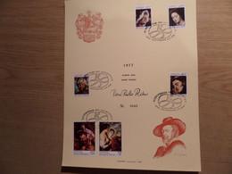 P.P. RUBENS - Bijzondere Reeks Postzegels Op Luxe Kunstblad Nr 0643 - Fdc Stempels - Echophil - Cartas Commemorativas