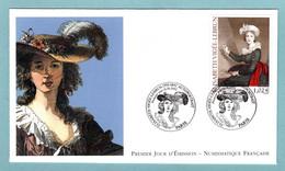 FDC France 2002 - Elisabeth Vigée Lebrun - YT 3526 - Paris - 2000-2009