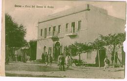LIBIA DERNA CASA DEL BANCO DI ROMA - INCROCIATORE AMERIGO VESPUCCI 1912 - Libia
