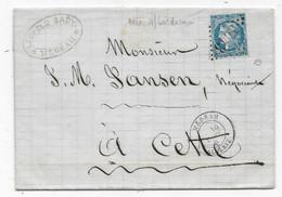 Lettre De MEDEAH ALGERIE MARS 1871 P / Cette Timbre 20c Type Bordeaux (rare En Algérie) GC 5043 Signée Expert  Roumet - 1877-1920: Semi Modern Period