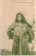 LIBIA DONNA ARABA MABRUCA REGIA NAVE RE UMBERTO 1913 . BENGASI - Libia