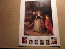 P.P. RUBENS - Bijzondere Reeks Postzegels Op Luxe Kunstblad  - 12-2-1977 Stempels Jodoigne  - Année Rubens - - Cartas Commemorativas