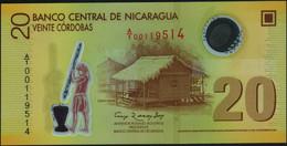 ♛ NICARAGUA - 20 Cordobas Res.12.09.2007 {Polymer} UNC P.202 A - Nicaragua