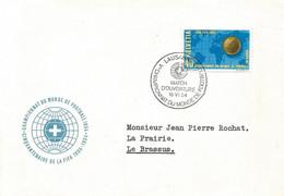 """119 - 30 - Enveloppe Avec Oblit Spéciale """"Match D'ouverture WM 54 Lausanne"""" - 1954 – Zwitserland"""
