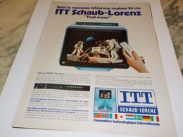 ANCIENNE  PUBLICITE SUR LA LUNE ITT SCHAUB-LORENZ  1978 - Televisione