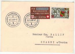 Suisse /Schweiz/Svizzera // Marcophilie // Carte Avec Le Cachet  Basel Schweiz Philatelisten Kongress S237 - Postmark Collection
