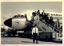 FOTOGRAFIA - AVIONES , AVIACIÓN , AEROPUERTO DE LAS PALMAS DE GRAN CANARIA , AEROLÍNEAS CÓNDOR , 1965 - Luftfahrt
