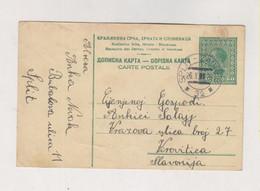 YUGOSLAVIA 1929 AMB TRAIN CANCEL SPLIT-ZAGREB Postal Stationery - Covers & Documents