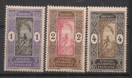 Dahomey - 1913-17 - N°Yv. 43 - 44 - 45 - 3 Valeurs - Neuf Luxe ** / MNH / Postfrisch - Unused Stamps