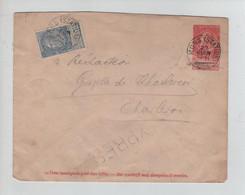 REF2425/ Entier Enveloppe 5 + TP En Exprès écrite Au Crayon C.Mons (Station) 22/6/1903 > Charleroi C.d'arrivée+Roulette - Buste