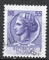 Italie - Italy - Italien 1968-72 Y&T N°1002A - Michel N°1298 (o) - 55l Monnaie Syracusaine - Fluorescent - Filigrane * - 1961-70: Usados
