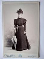 MARIENBAD - Photographie CDV Format Cabinet - Femme Debout - Mode Fin XIX ème - A Voir  - TBE - Oud (voor 1900)