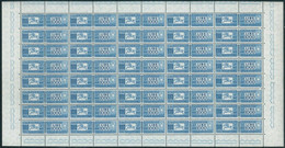 REPUBBLICA 1955 PACCHI POSTALI STELLE 1000 L. FOGLIO INTERO SASS. N.102 40 PEZZI ** MNH - Postal Parcels