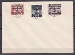 Generalgouvernement - 1940 - Michel Nr. 15 + 30/31 Auf Brief - Gestempelt - Bezetting 1938-45