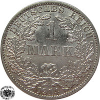 LaZooRo: Germany 1 Mark 1914 A XF - Silver - 1 Mark