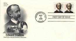 Edward Livingston Trudeau Amerikanischer Arzt, Adirondack Cottage Sanitarium Saranac Lake Zur Behandlund TBC - Medicina