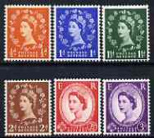 Great Britain 1957 Wilding Graphite-lined Issue Set Of 6 U/M SG 561-66 - Unused Stamps