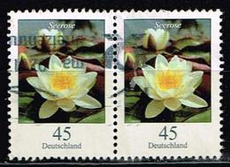 Bund 2017,Michel# 3303 O Blumen: Seerose, Waagerechtes Paar - Gebraucht