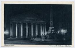 ITALIA : ROMA DI NOTTE - PIAZZA DELLA ROTONDA E PANTHEON - Pantheon