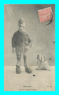 A904 / 667  DRANEM Avec Son Chien Par P. - E. Gairaud Sculpteur ( Clown ) - Kabarett