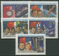 Madagaskar 1986 Raumfahrt Astronauten Kosmonauten 1005/09 Postfrisch - Madagascar (1960-...)