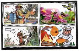 Tajikistan 2020 . Beekeeping. Fauna, Bees, Bear. Butterfly, Flowers, Mushrooms . 4v. - Tajikistan