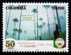 A595G - KOLUMBIEN - 2016, -MNH- QUINDIO DEPARTMENT, 50 YEARS- HORSE AND FOREST - Kolumbien