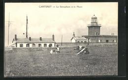 CPA Carteret, Le Sémaphore Et Le Phare, Phare - Carteret