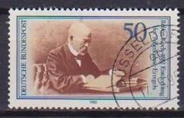 GERMANIA REPUBBLICA FEDERALE 1982 SCOPERTA  BACILLO TUBERCOLOSI ROBERT KOCH UNIF. 954 USATO VF - Used Stamps