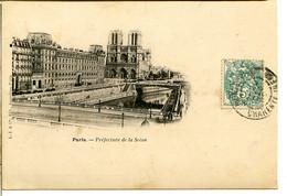 75004 PARIS - Préfecture De La Seine Et Notre-Dame - Postée En 1903 - District 04