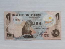 MALTE - Lira - 1 Pound 1967 - Bank Centrali Ta Malta - Malta
