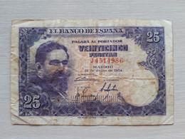 BILLETE DE ESPAÑA DE 25 PTAS DEL AÑO 1954 ISAAC ALBENIZ - 25 Pesetas