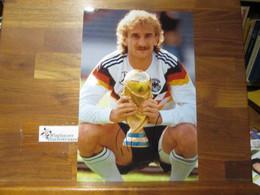 Original Autogramm Rudi Völler Fussball /// Autogramm Autograph Signiert Signed Signee - Autógrafos