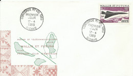 WALLIS ET FUTUNA, SOBRE CONMEMORATIVO  AEREO AÑO 1969 - Covers & Documents