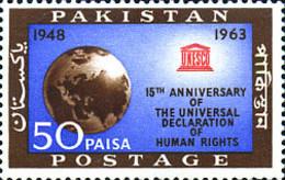 Ref. 214516 * NEW *  - PAKISTAN . 1963. 15th ANNIVERSARY OF THE DECLARATION OF HUMAN RIGHTS. 15 ANIVERSARIO DE LA DECLAR - Pakistan