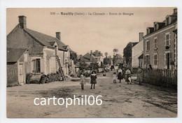- CPA REUILLY (36) - La Chaussée - Route De Bourges (belle Animation) - Edition Mme Guillon 510 - - Otros Municipios