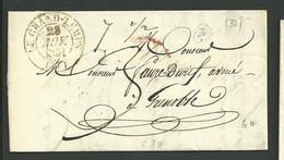 Le Grand Lemps, Isère , Cachet Type 13 Du 28 Novembre 1831 , L A C - 1801-1848: Precursors XIX