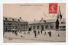 - CPA FERRIÈRE-LA-GRANDE (59) - La Mairie Et L'Ecole 1927 (belle Animation) - Edition COUTURE N° 8 - - Otros Municipios