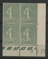 N° 234 COTE 90 € Coin Daté Du 5/6/31. Type Semeuse Lignée. Neuf ** (MNH). TB - ....-1929