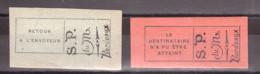 Poste Monténégro - Exil à Bordeaux - 1916 - Timbres De Retour N° 1 Et 2 Neufs ** - Guerre