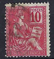 FRANCE 1900: Le Y&T 112a (chiffres Déplacés), Obl. CAD - Used Stamps