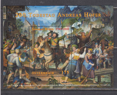 Austria 2010 - 200th Anniversary Of The Death Of Andreas Hofer, Freedom Fighters, Mi-Nr. Bl. 58, MNH** - 2001-10 Unused Stamps