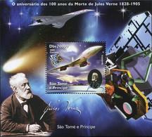 Ref. 624528 * NEW *  - SAO TOME AND PRINCIPE Islands . 2005. 100 A�OS DE LA MUERTE DE JULIO VERNE 1828-1905 - Sao Tomé E Principe