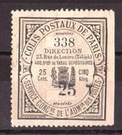 Colis Postaux Paris Pour Paris - Timbre N° 21 - Otros
