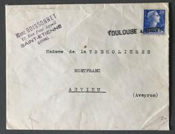 France N°1011B Sur Enveloppe - Griffe TOULOUSE A BRIVE Oblitérante - (C1724) - 1921-1960: Période Moderne