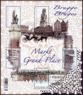Belgium BL 203**  La Grand Place Bruges  Année 2012  2 - Libretti 1962-....