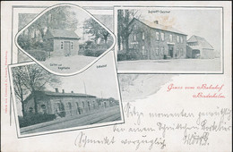 AK/CP Bordesholm  Bahnhof  Gasthof Bustorff  Gel./circ. 1900   Erhaltung/Cond. 2  Nr. 01201 - Zonder Classificatie