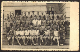 Shirtless Boys Guys And Girls Portrait Old Photo 14x9 Cm #30967 - Anonyme Personen
