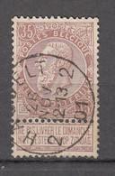N° 61 OBLITERATION  2 HASSELT 2 - 1893-1900 Schmaler Bart